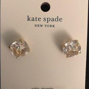Kate Spade Diamond/Gold Studs. NWT